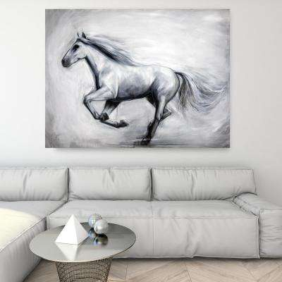 """36 in. x 48 in. """"Through the Wind"""" by Milo Printed and Painted Canvas Wall Art"""