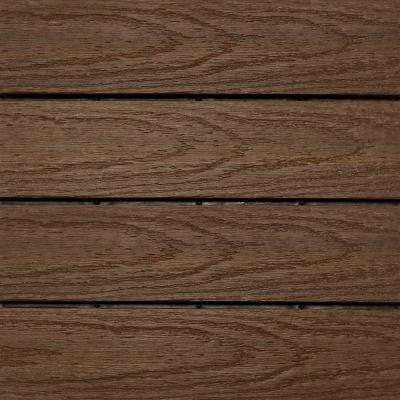 UltraShield Naturale 1 ft. x 1 ft. Quick Deck Outdoor Composite Deck Tile Sample in Brazilian Ipe