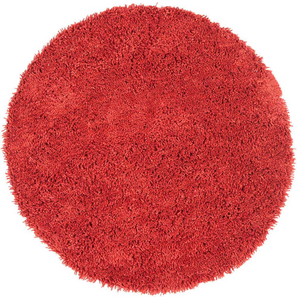 Classic Shag Ultra Rust 6 ft. x 6 ft. Round Area