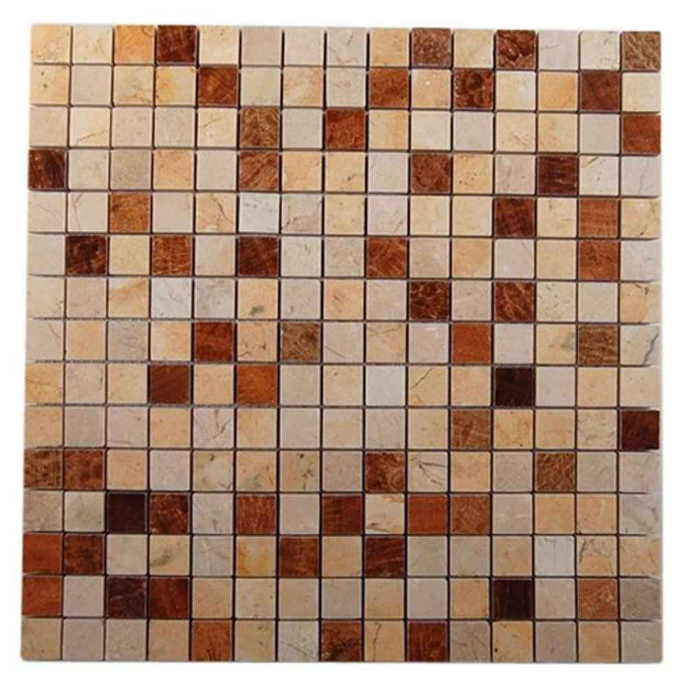Splashback Tile Sparrow Blend 12 in. x 12 in. x 8 mm Glass Mosaic Floor and Wall Tile