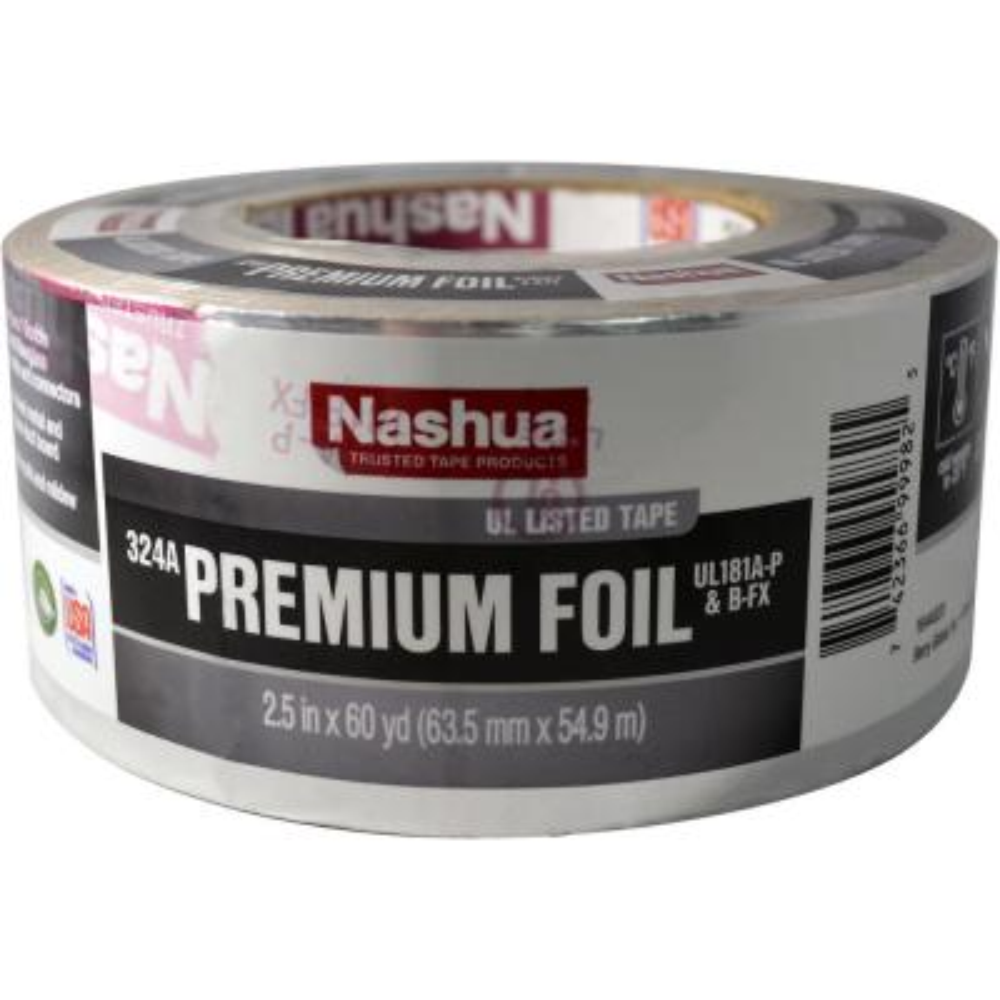 2.5 in. x 60 yd. 324A Premium Foil UL Listed HVAC Tape