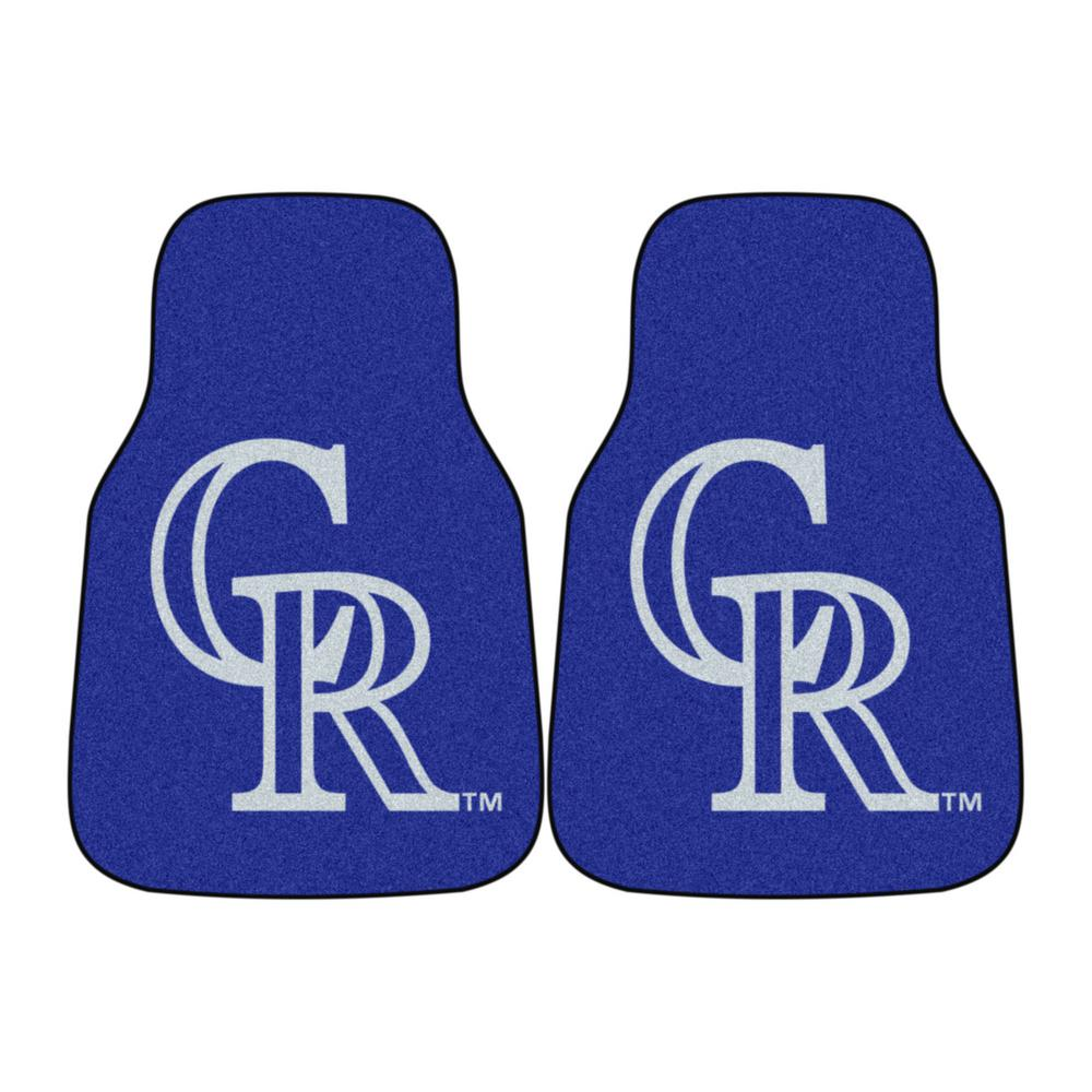 Fanmats Colorado Rockies 18 In X 27 In 2 Piece Carpeted