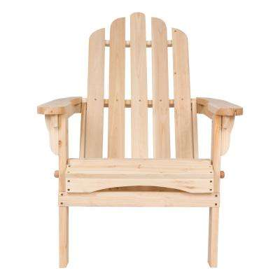 Marina Natural Folding Cedar Wood Adirondack Chair