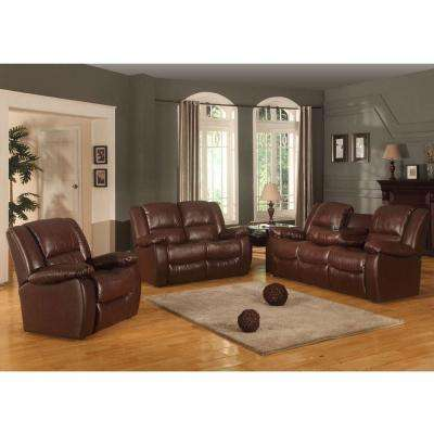 Clarksville Chocolate Brown Leatherette Recliner
