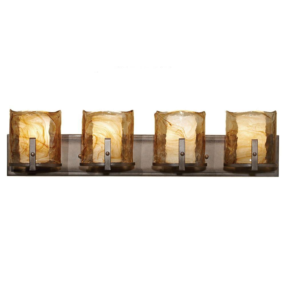 Aris 4-Light Roman Bronze Vanity Light