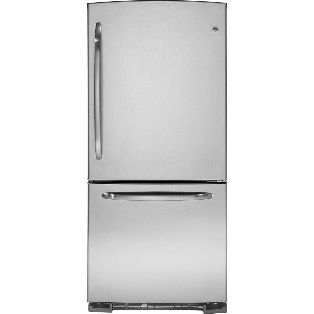GE 20.2 cu. ft. Bottom Freezer Refrigerator in Stainless Steel