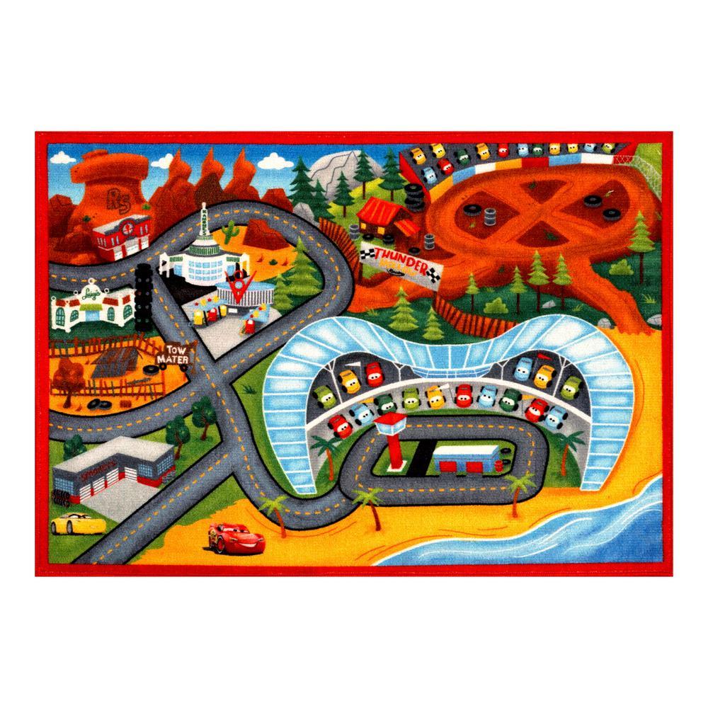 Disney Cars Multi-Color 5 Ft. X 7 Ft. Indoor Juvenile Area