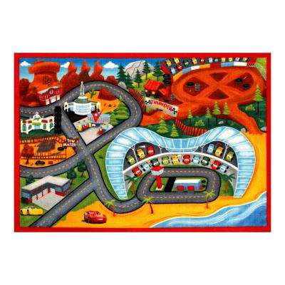 Cars Multi-Color 5 ft. x 7 ft. Indoor Juvenile Area Rug