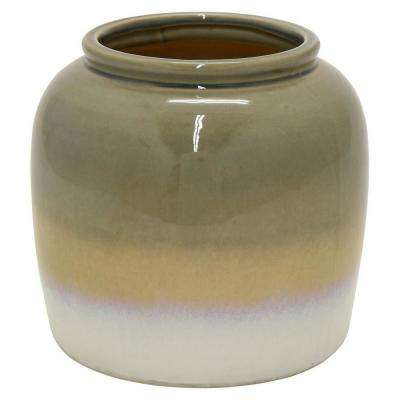 16.5 in. Gray Ceramic Decorative Vase