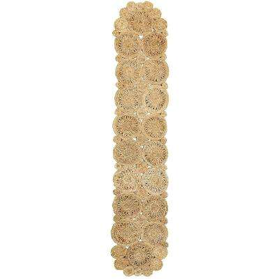 Natural Jute Rectangle 1 ft. 4 in. x 6 ft. 8 in. Indoor Natural Table Runner