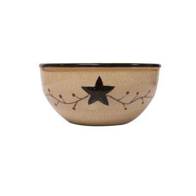 Star Vine Beige Bowl (Set of 4)