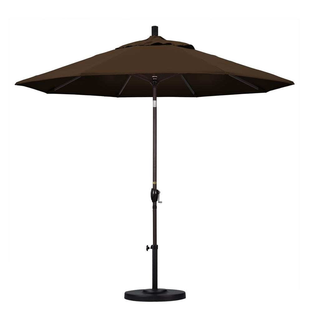 9 ft. Aluminum Push Tilt Patio Umbrella in Mocha Pacifica