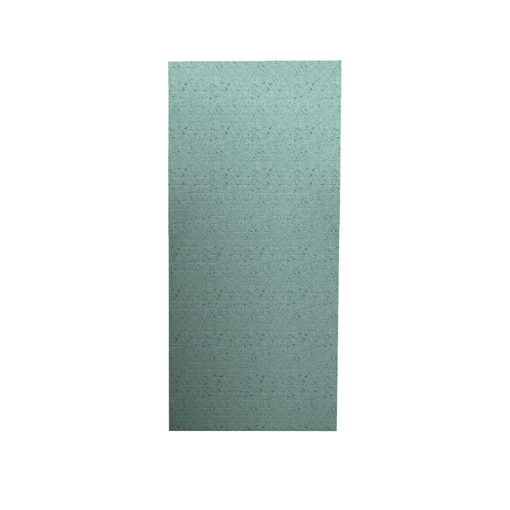 Swan Geometric 1/4 in. x 36 in. x 96 in. One Piece Easy Up Adhesive Shower Wall in Tahiti Evergreen-DISCONTINUED