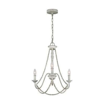 Maryville 3-Light Washed Grey Chandelier