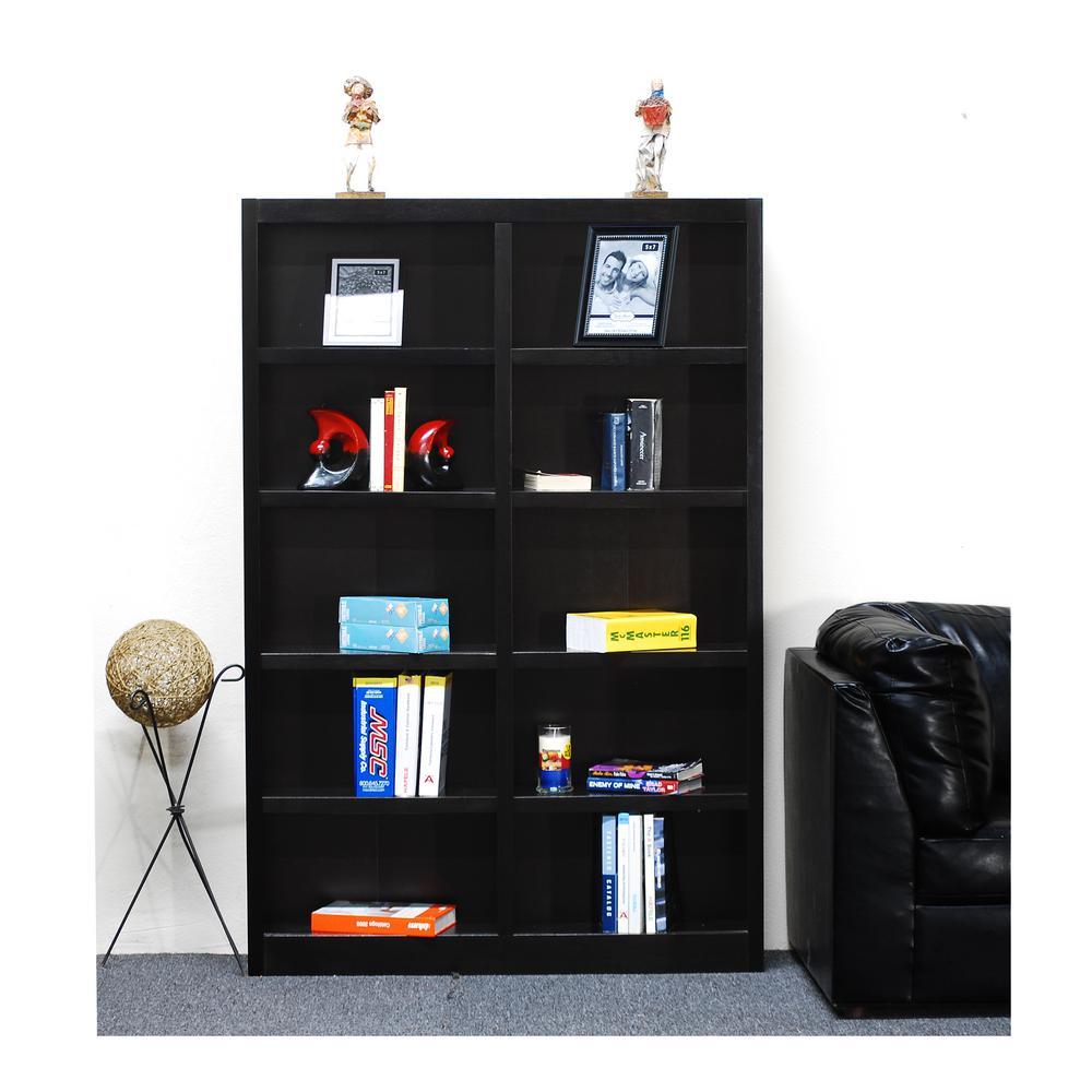 Concepts In Wood Midas Espresso Open Bookcase
