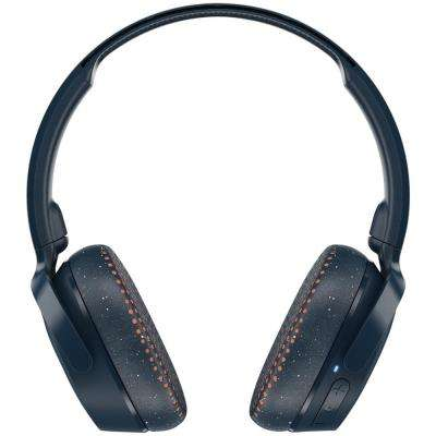 Riff Wireless On-Ear Headphones with Microphone in Blue