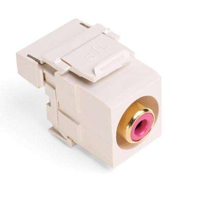 QuickPort RCA 110-Type Connector with Red Barrel, Light Almond