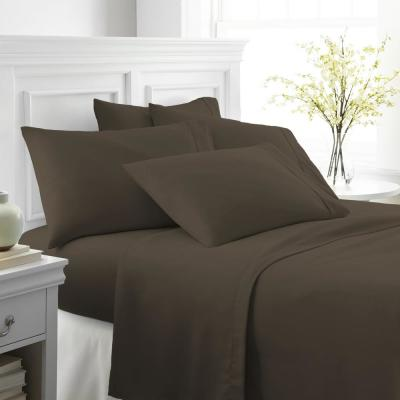 Performance Chocolate Twin XL 6-Piece Bed Sheet Set