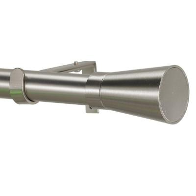 Linea 6 ft. Non-Telescoping Single Curtain Rod in Stainless