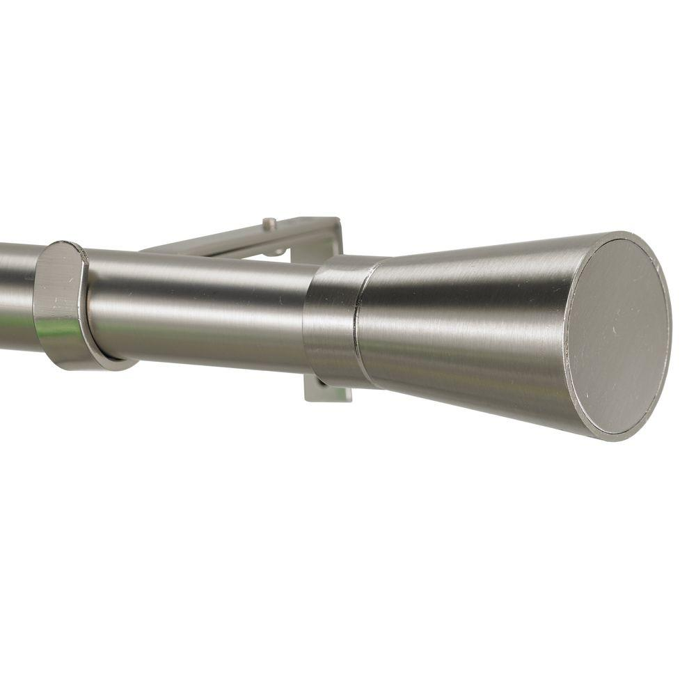 Non Telescoping Curtain Rod In Stainless