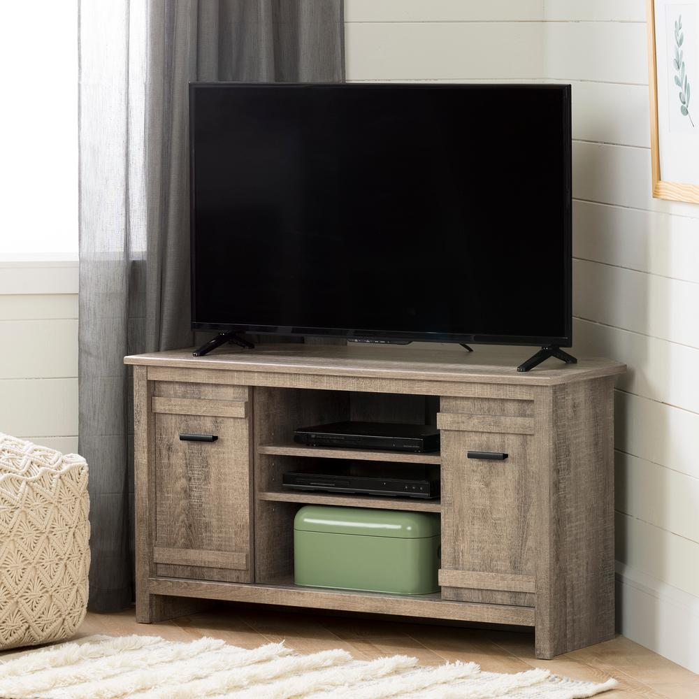 South Shore Exhibit Weathered Oak Tv Stand Up To 42 In 11927 The