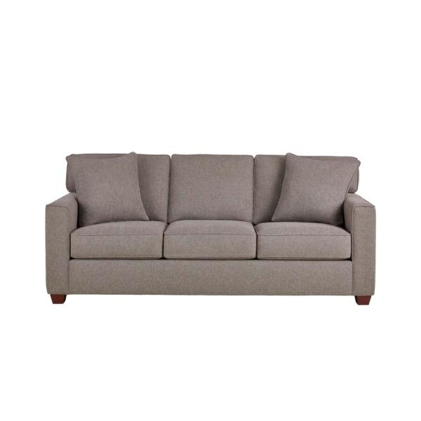 Woodfield 83.5 in. Acuff Charcoal Polyester 3-Seater Sofa with Square Arms