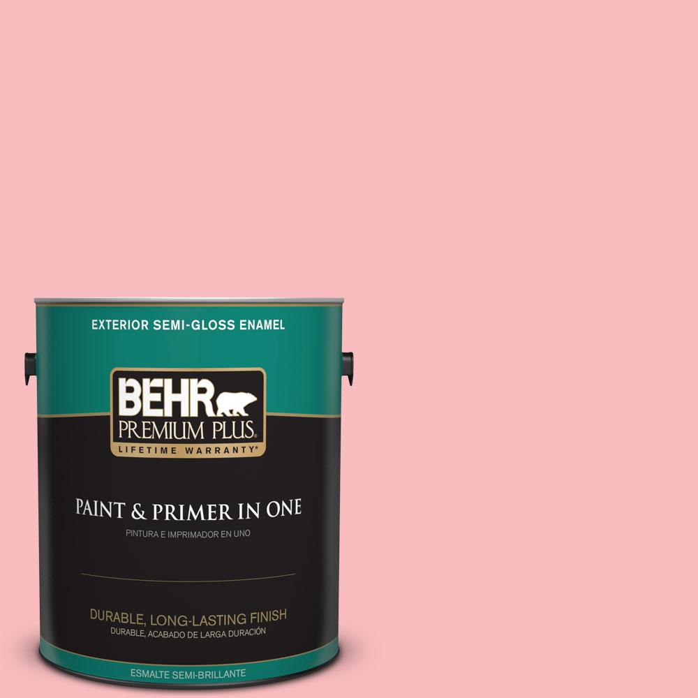 BEHR Premium Plus 1-gal. #140A-3 Carnation Bloom Semi-Gloss Enamel Exterior Paint