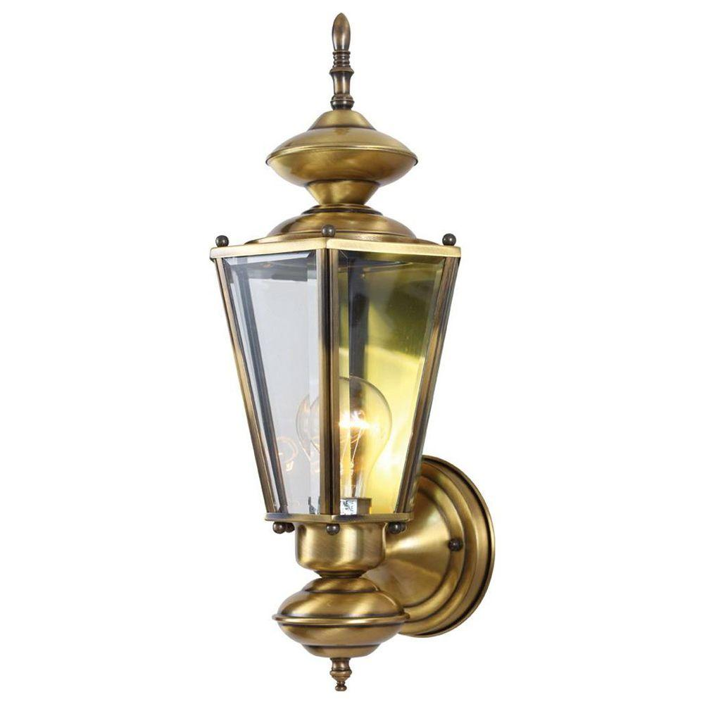 Volume lighting 1 light antique solid brass outdoor wall mount v9152 volume lighting 1 light antique solid brass outdoor wall mount mozeypictures Image collections