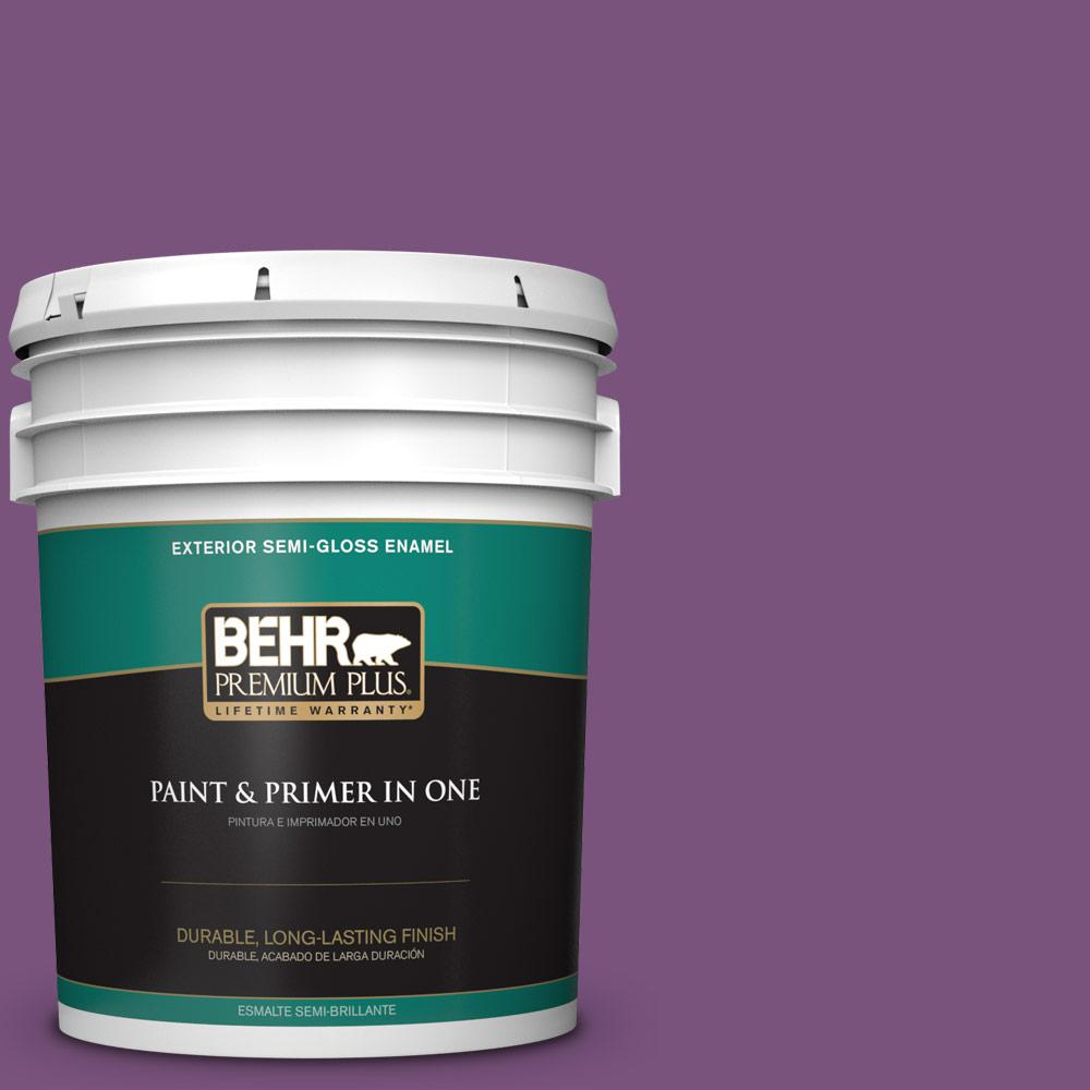 5 gal. #MQ4-62 Birthstone Semi-Gloss Enamel Exterior Paint and Primer in