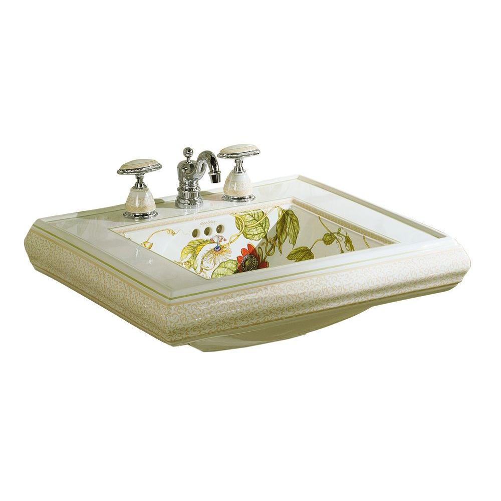 KOHLER Crimson Topaz 5-1/4 in. Pedestal Sink Basin in White