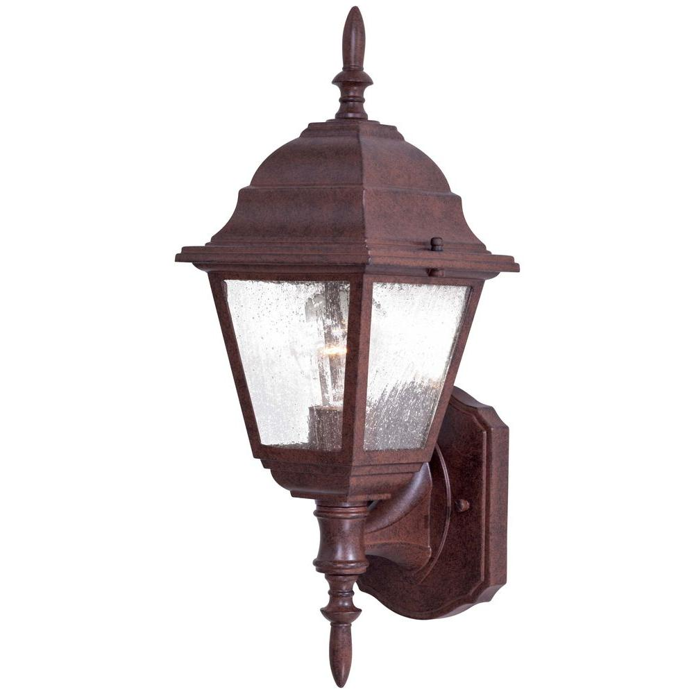 Bay Hill Wall-Mount 1-Light Antique Bronze Outdoor Lantern