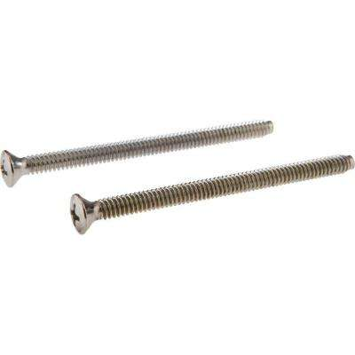 Pair of Escutcheon Screws in Chrome