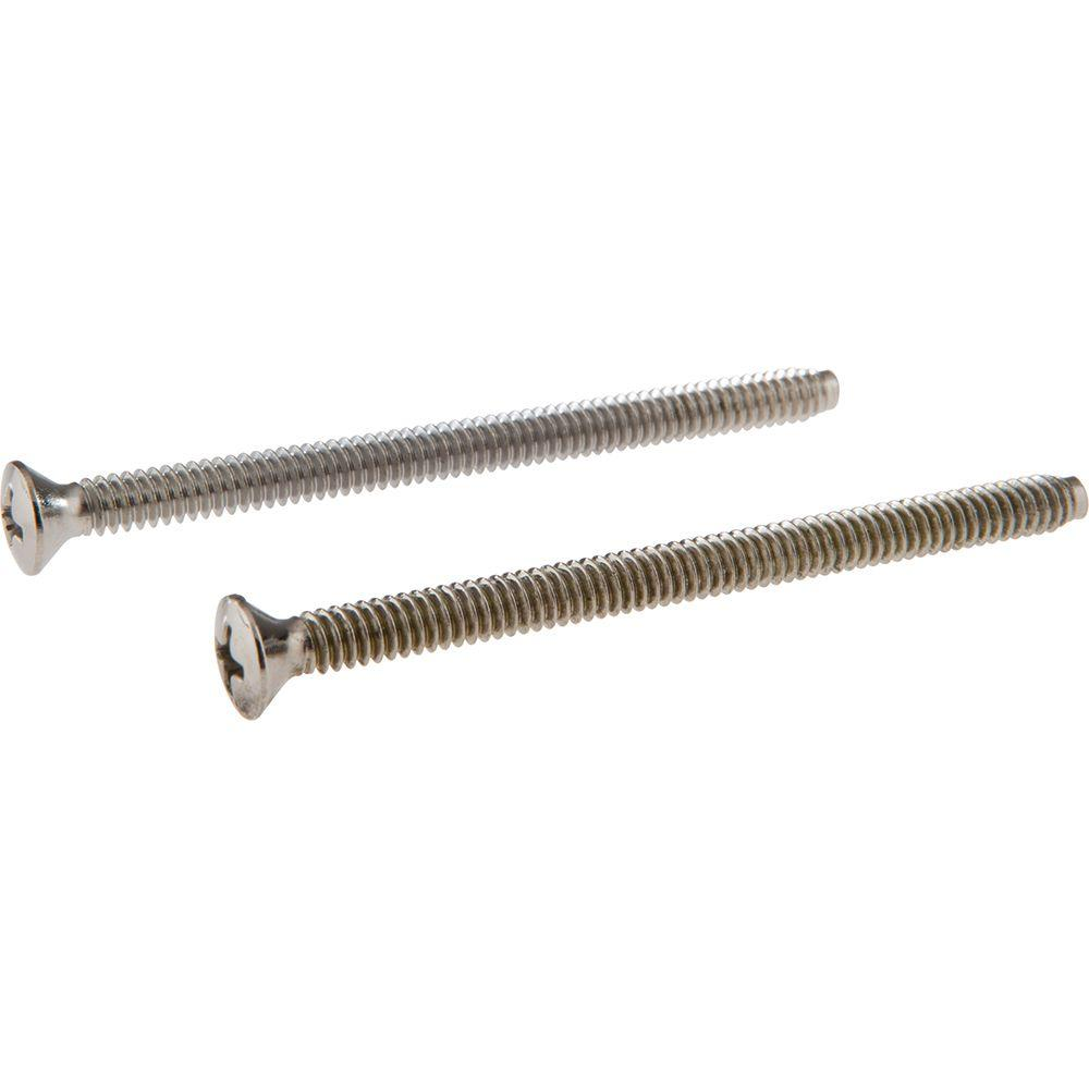Delta Pair of Escutcheon Screws in Chrome-RP196 - The Home Depot