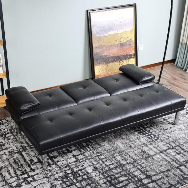 Convertible Sofa Bed With Armrest
