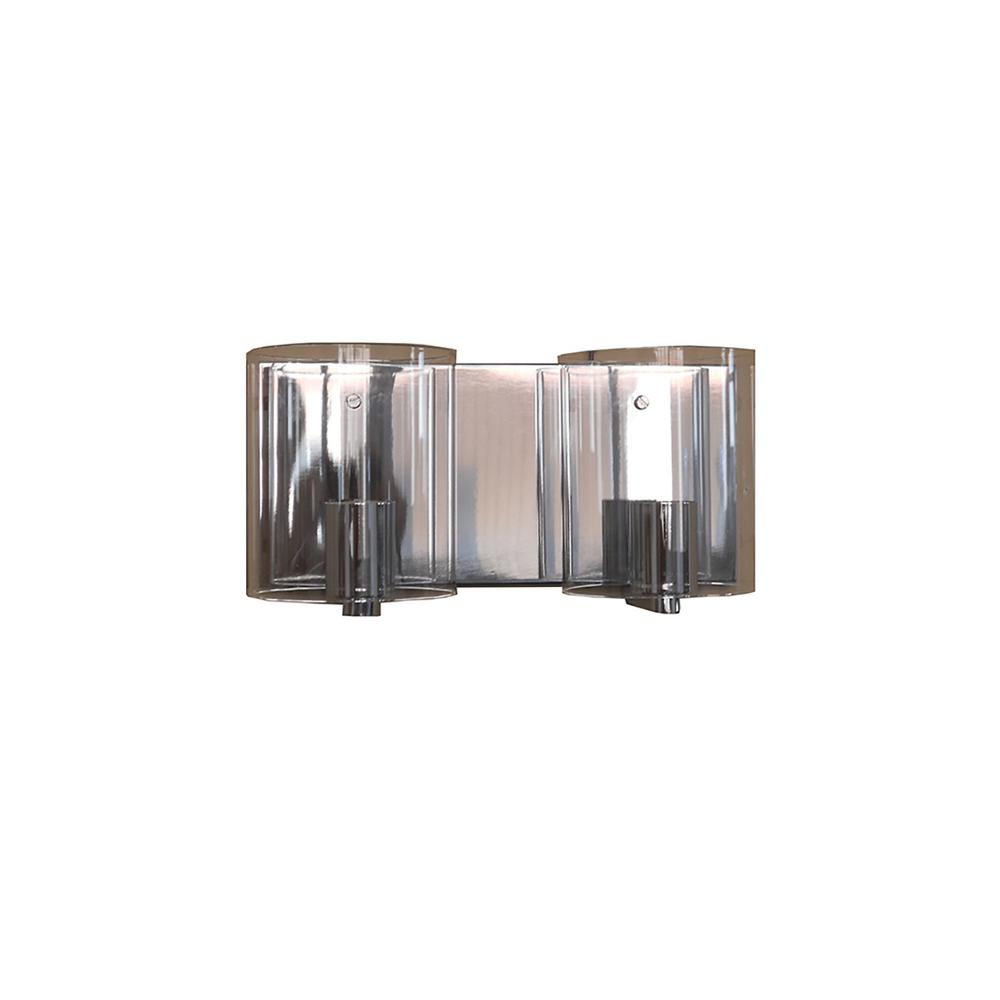 Filament Design 2 Light Chrome Bath Light Vl7023 2clch The Home Depot
