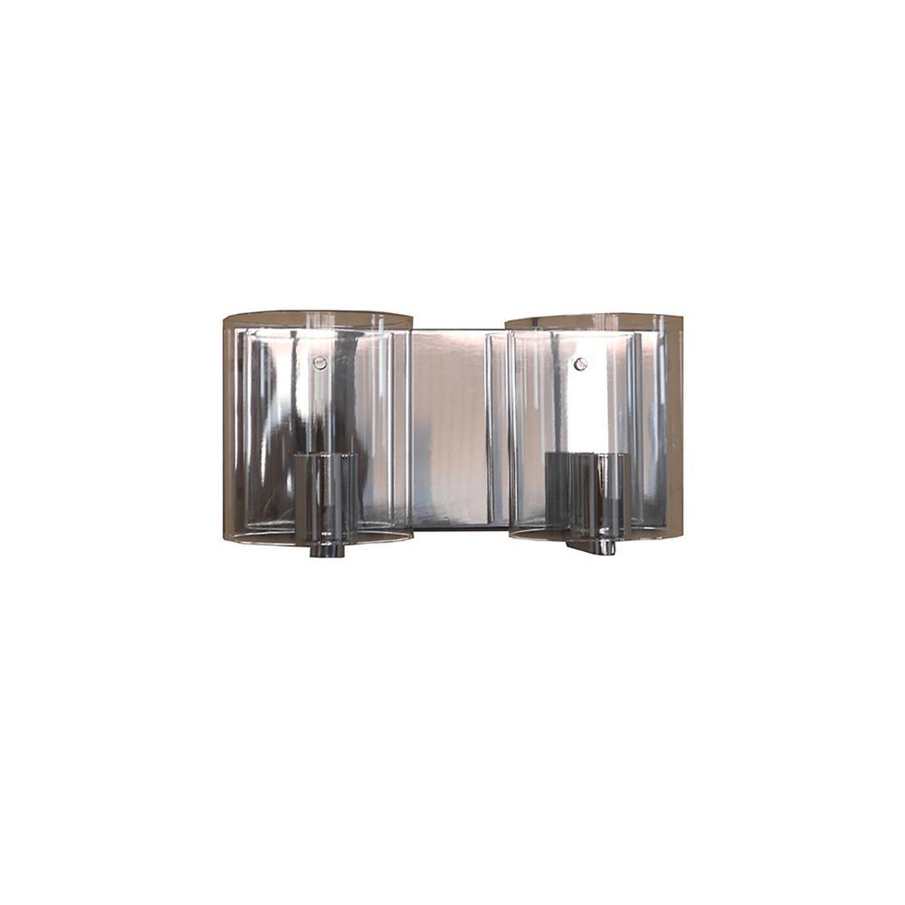 Filament Design 2 Light Chrome Bath Light Vl7023 2clch The Home Depot