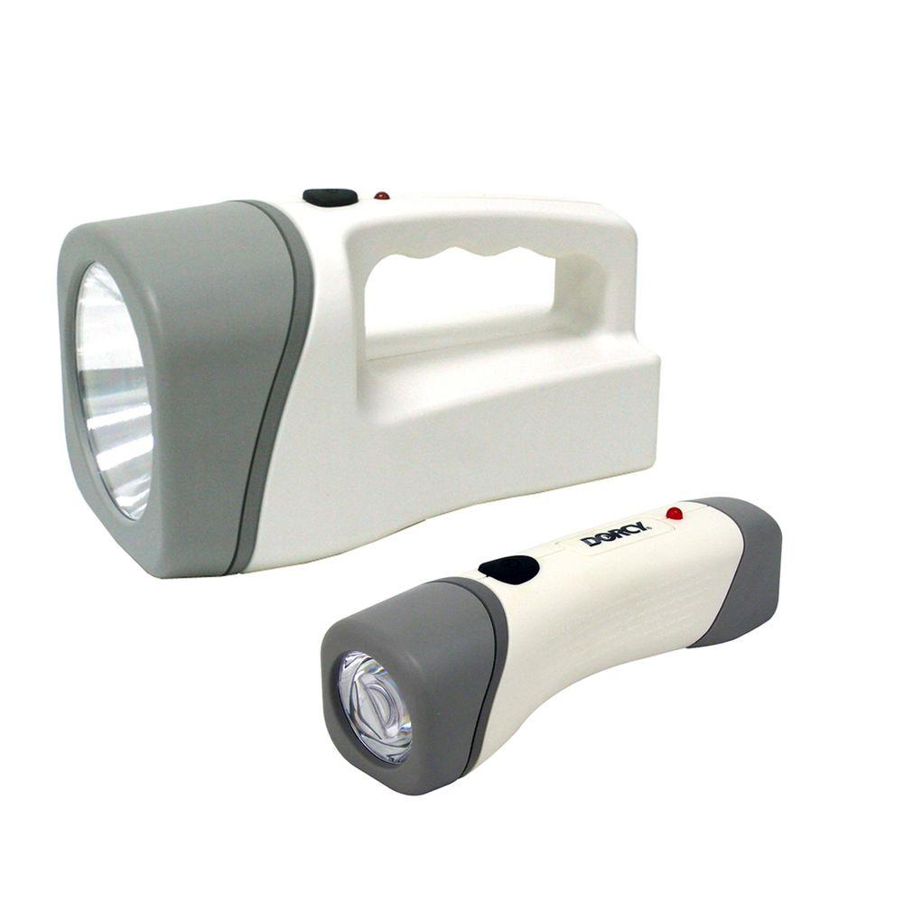 Dorcy LED Rechargeable Power Failure Safety Flashlight / Lantern Combo-DISCONTINUED
