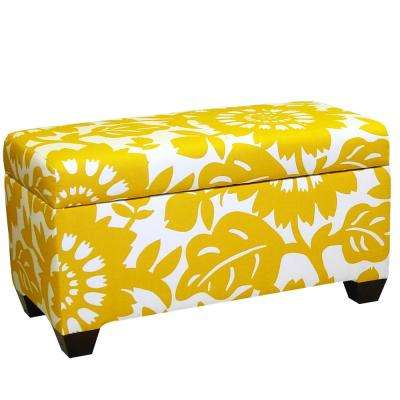 Beautiful Gerber Sungold Storage Bench
