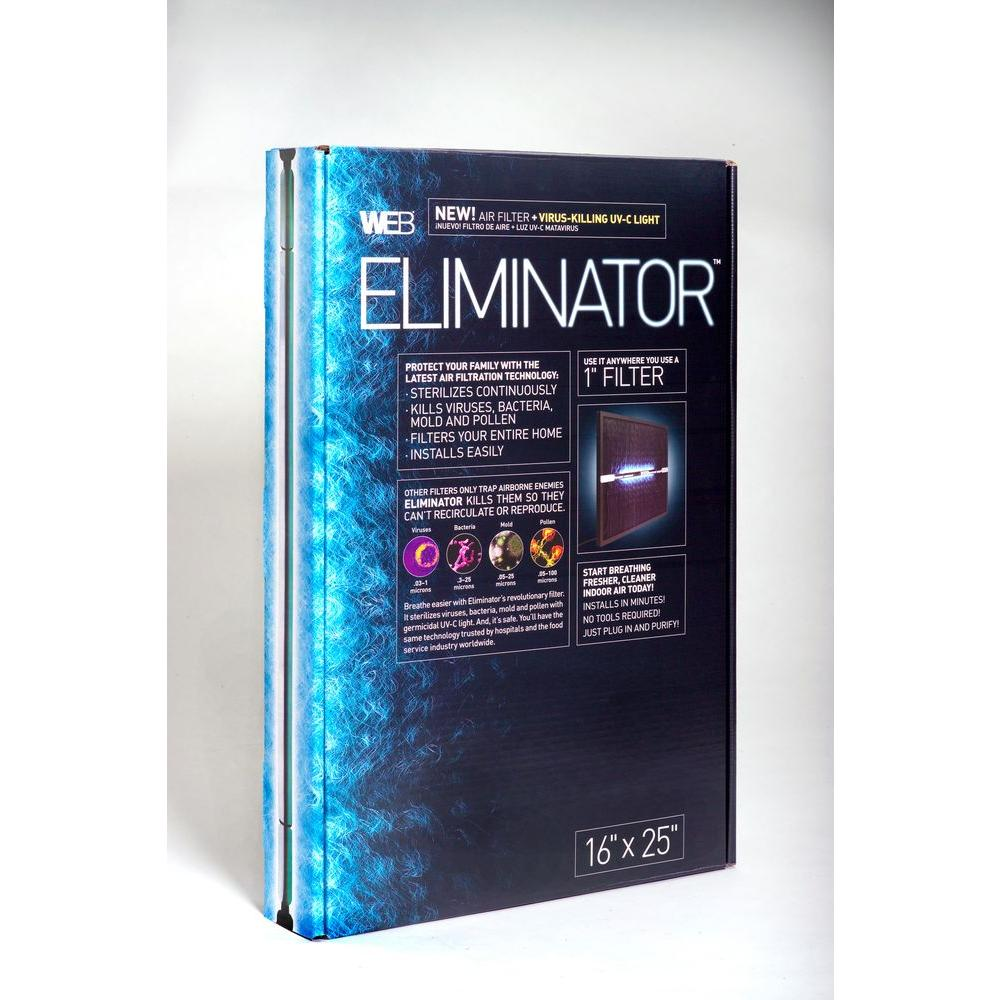Web 16 in. x 20 in. x 1 in. Eliminator UV Filter-DISCONTINUED