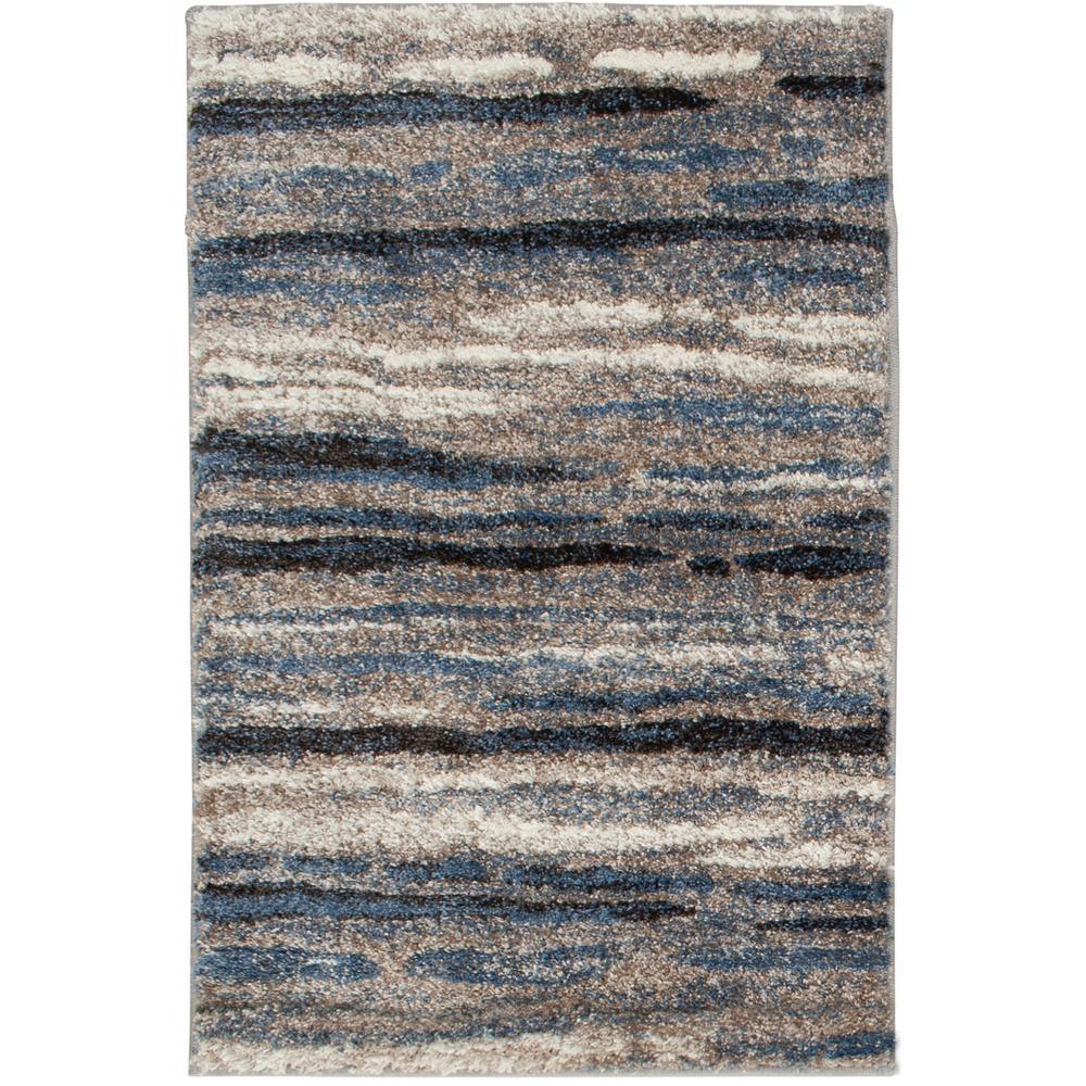 Shoreline Blue/Multi 2 ft. x 3 ft. Striped Accent Rug