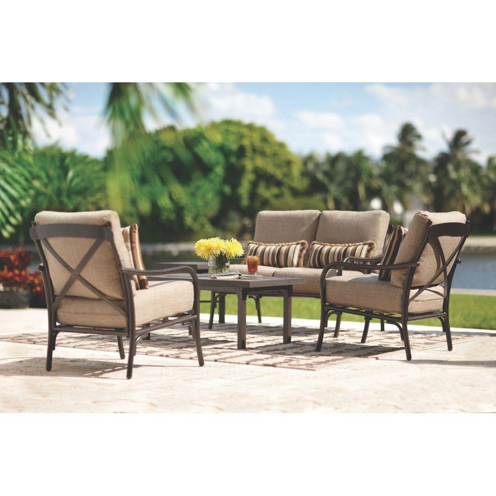 Home Decorators Collection Portillo Weathered Grey 5-Piece Patio Seating Set