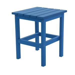 Icon Royal Blue Square Plastic Outdoor Side Table