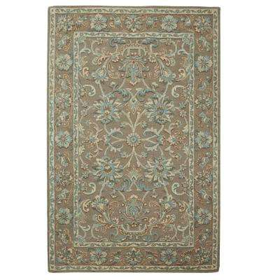Trinity Grey/Seagreen 5 ft. x 8 ft. Area Rug