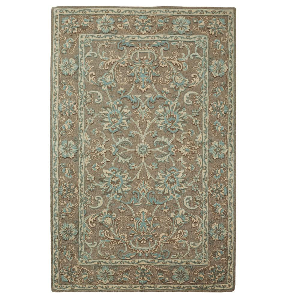 Home Decorators Collection Trinity Grey Seagreen 8 Ft X 11 Ft Area Rug 9962330330 The Home Depot