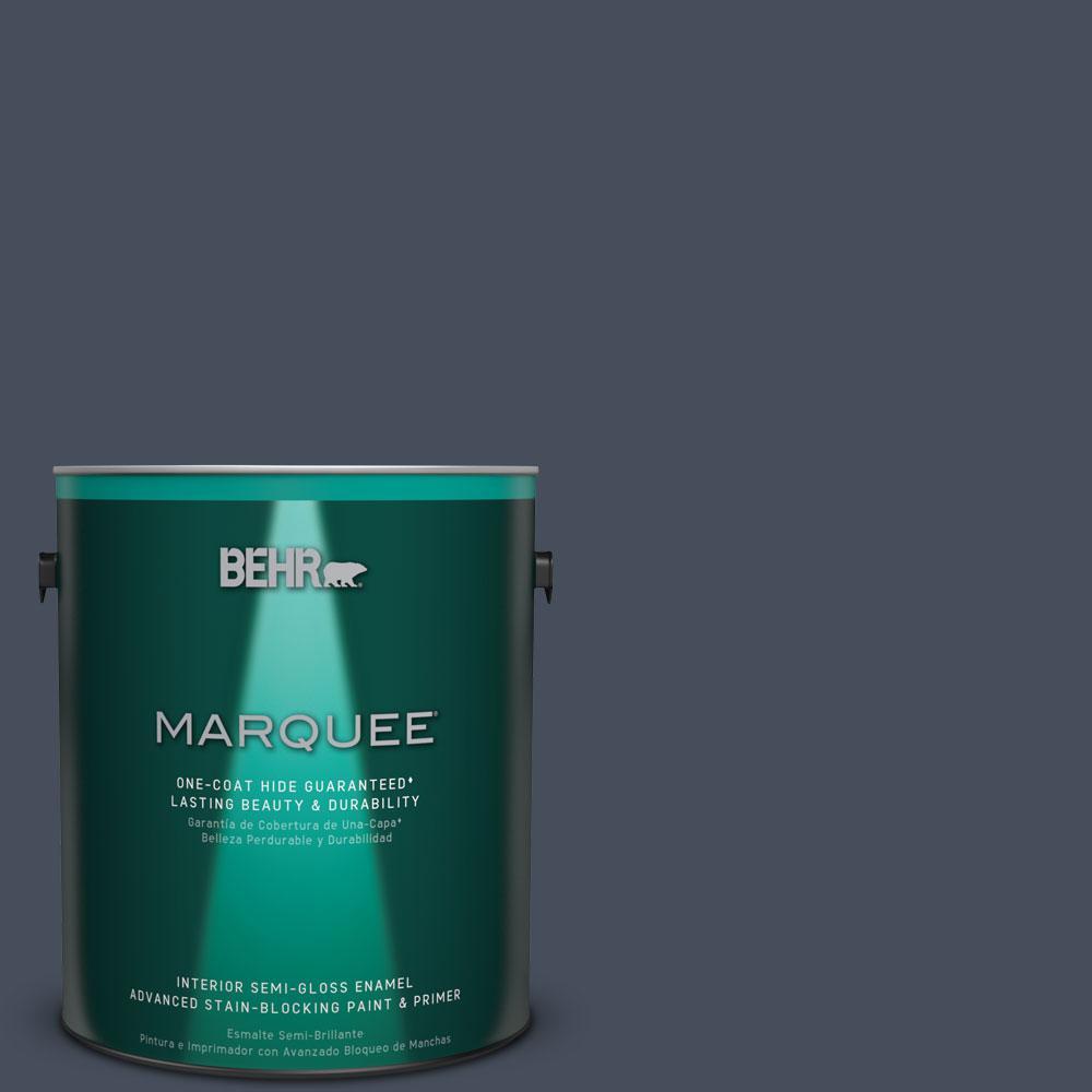 1 gal. #MQ5-10 Secret Society One-Coat Hide Semi-Gloss Enamel Interior Paint