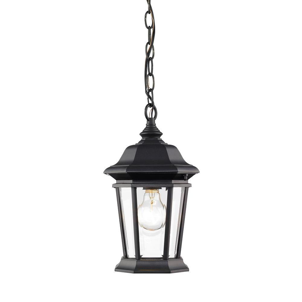 Filament Design Presley 1-Light Black Outdoor Hanging Lantern