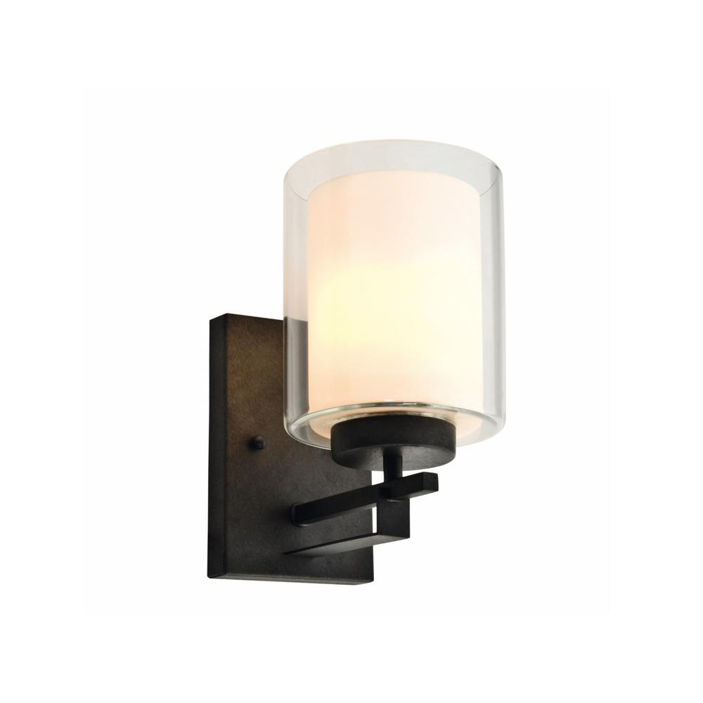 Impala 1-Light Rustic Bronze Wall Sconce