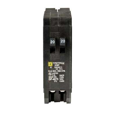 Homeline 2-20 Amp Single-Pole Tandem Circuit Breaker
