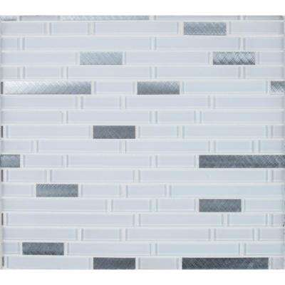Lucid Sky Interlocking 12 in. x 12 in. x 4mm Glass Metal Mesh-Mounted Mosaic Tile (19.6 sq. ft. / case)