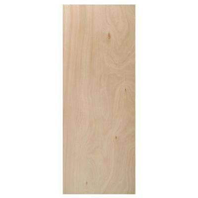 36 in. x 80 in. Composite Unfinished Flush Interior Door Slab